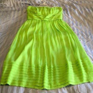 Pretty lime green strapless dress